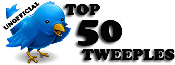 The brand new Top 50 Tweeples logo (Thanks @PCfirestorm)
